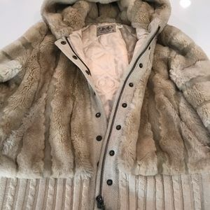 Juicy Fur Bomber Jacket (M)